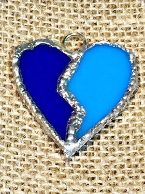 Stained Glass Heart - 2 pieces