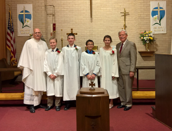 Confirmands and Pastors