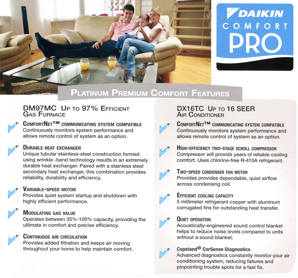 Platinum Furnace and Air Conditioner Package