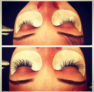 Lash Extensions at Bloom