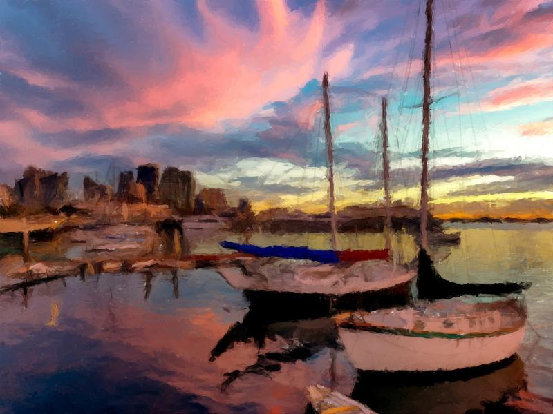 Boats, ocean, bay,