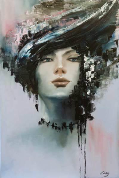 портрет, женский, абстракция