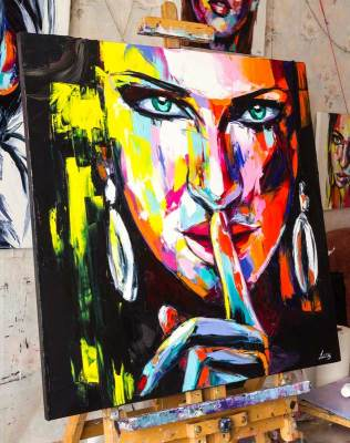 fine art, portrait, painting, artwork, studio, colorful, vivid, vibrant