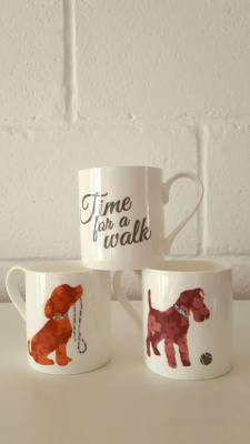 'Time to Play' & 'Time for a Walk' Mugs £10.99