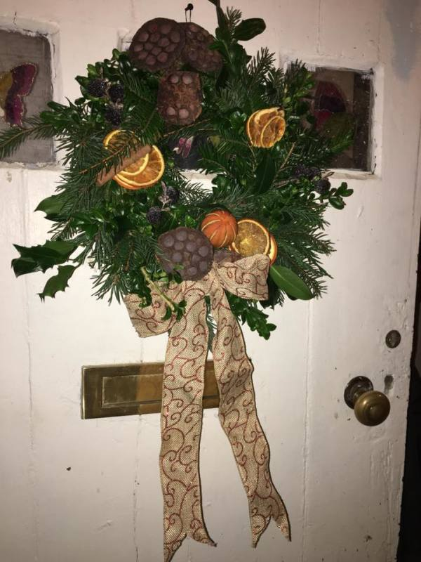One of two door wreaths I completed on the day!