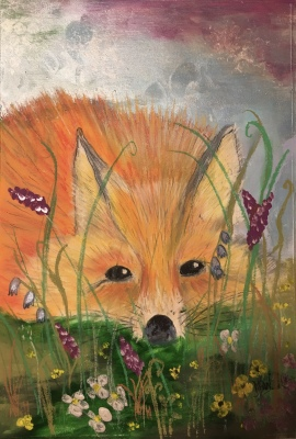 Hiding Fox - SOLD