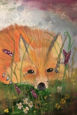 Hiding Fox - SOLD