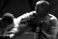 Pacific Muay Thai Instructor Eric overhand