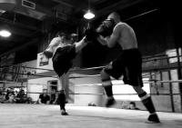 Pacific Muay Thai Instructor Kim High Kick