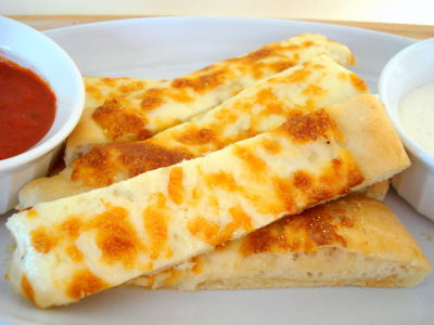 BREADSTICKS (Pizza Dough with Garlic Butter)