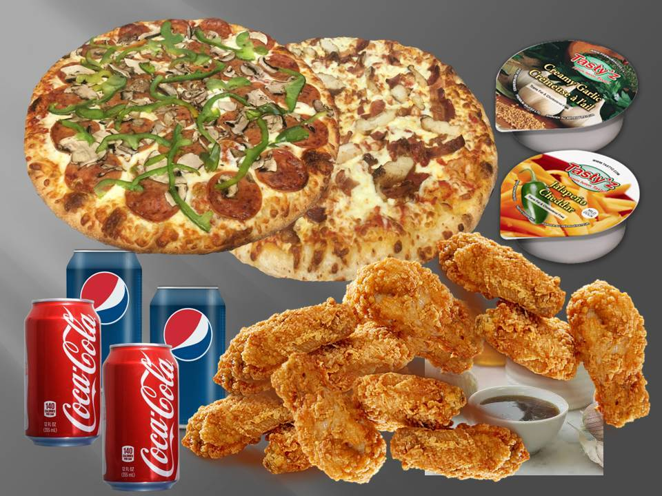 Double Pizza & Wing Combo