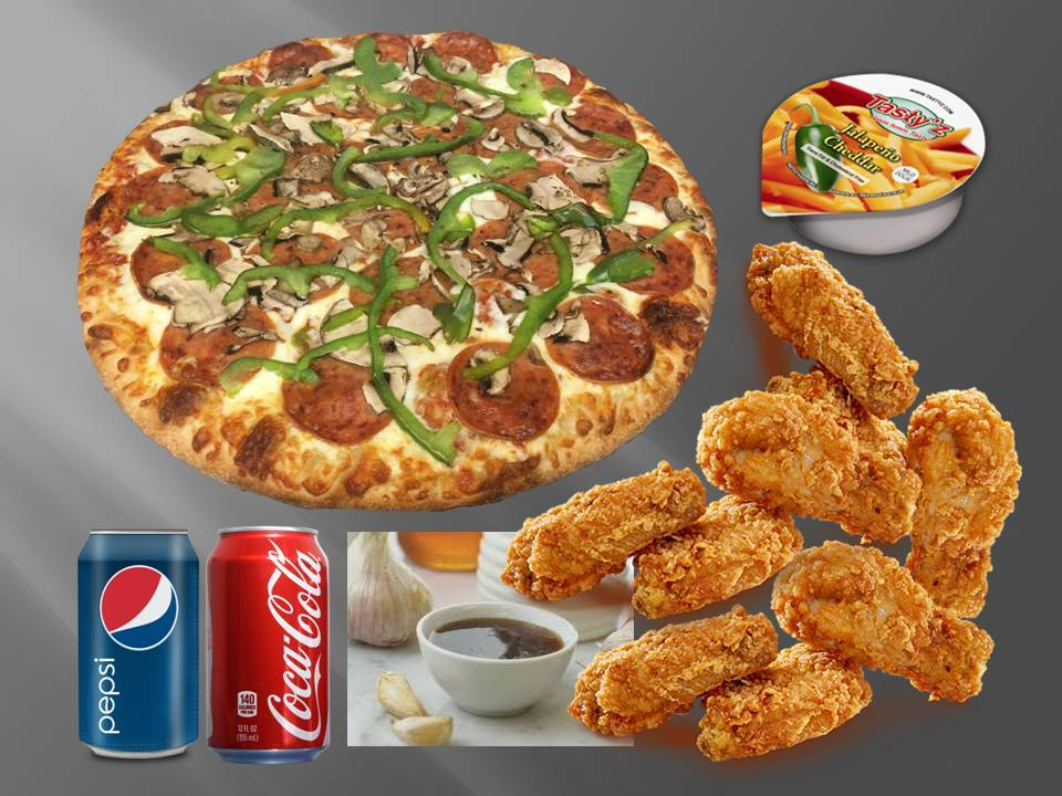 Single Pizza & Wing Combo