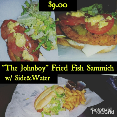 The Johnboy Fried Fish Sammiche
