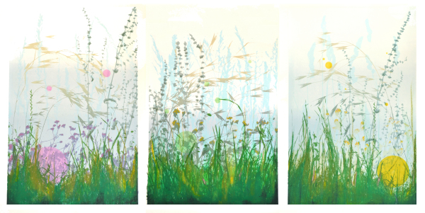 'Morning Meadow' Tryptic