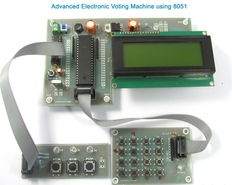 lcd based voting machine The liquid crystal display unit provides the voter friendly interface guiding through the procedure of voting the keypad is used to enter the details and other actions to be taken.