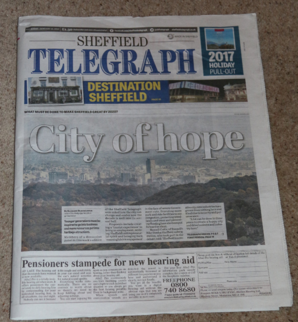 A column in the Telegraph