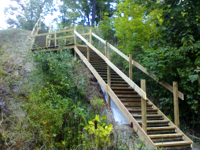 Multi level stairs