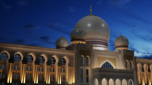 Istana Kehakiman (Palace of Justice) 3D Model evening shot.