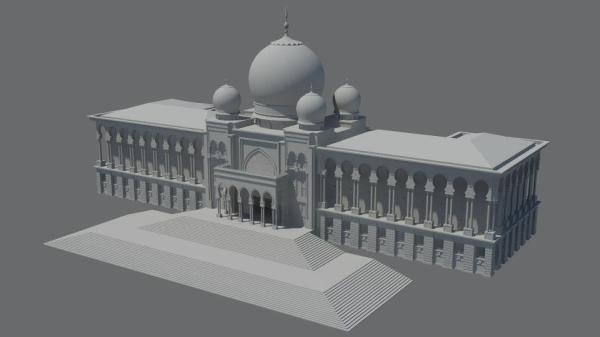 Istana Kehakiman (Palace of Justice) 3D Model without textures.