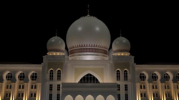 Istana Kehakiman (Palace of Justice) 3D Model night shot.