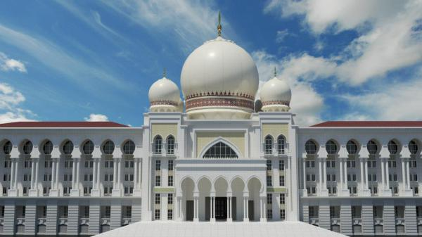Istana Kehakiman (Palace of Justice) 3D Model at noon.