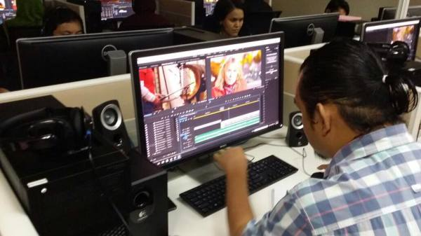 Salman Khan Ghauri at a 2-Day on site hands on training workshop on Video Editing and Conforming for Television using Adobe Premier Pro CC for TV3 Malaysia.