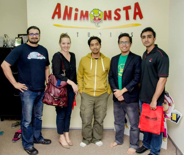 After the fun and learning training session at HKVFX, Salman Khan and Hussin Khan took Trine and her students from Ideas Academy to the Animonsta Studios in Cyberjaya.