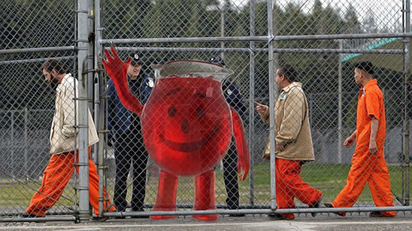 Kool Aid Man Arrested for Breaking & Entering!