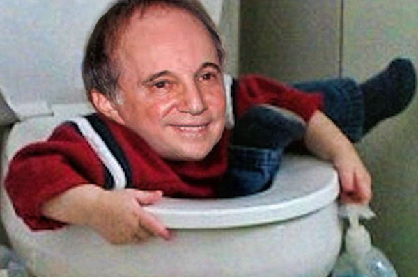 Paul Simon Slips in Bathroom, Trapped in Toilet for 12 Hours.