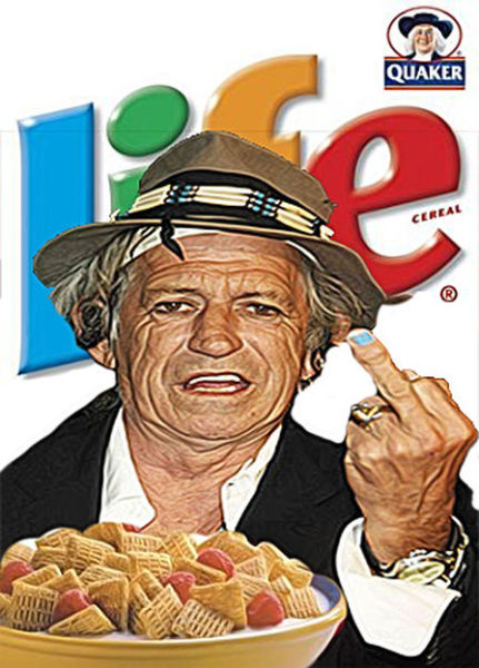 Keith Richards is the New Spokesman for 'LIFE' Cereal!