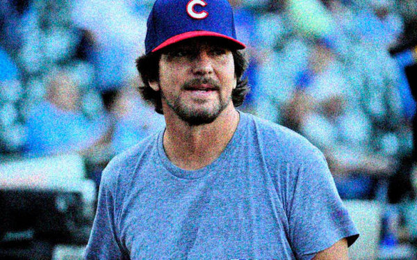 Eddie Vedder Pitches 3 Innings For Cubs!
