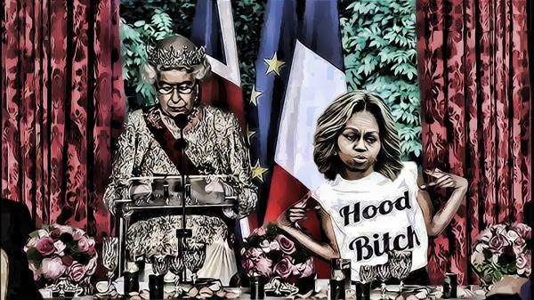 """Michelle Obama Threatens """"To Cut"""" Queen Elizabeth! International Incident!"""