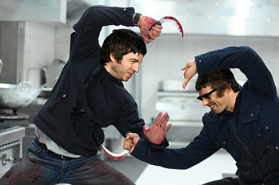 Gallagher Brothers Have Knife Fight on Stage, Ends in Reconciliation!