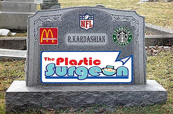 Kardashians Sell Advertising on Father's Headstone!