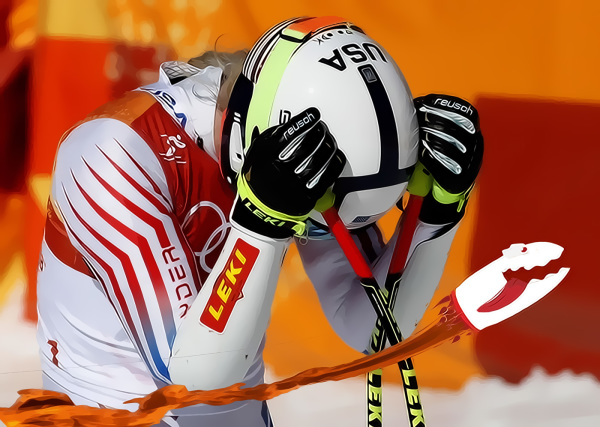Lindsey Vonn, Olympic Tampon Tragedy!