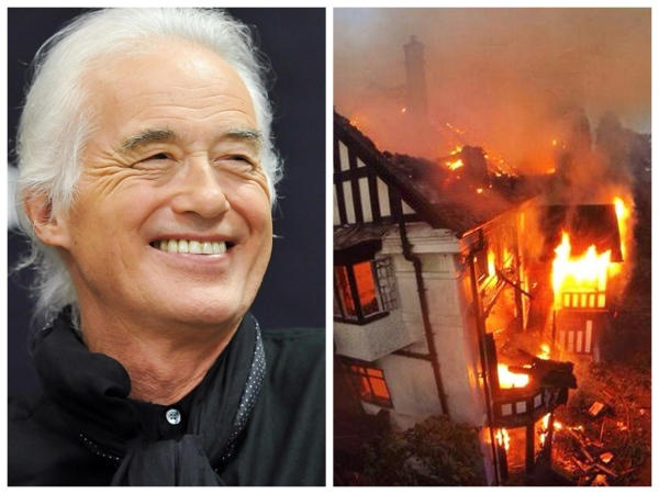 Jimmy Page Burns Neighbors House Down! Shocking End to 3 Year Feud!