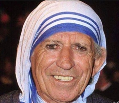 Keith Richards Declared a Saint Before Huge Crowds in Vatican!