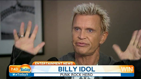 Billy Idol Uses 'Crazy Strength', Lifts Truck To Save Family!