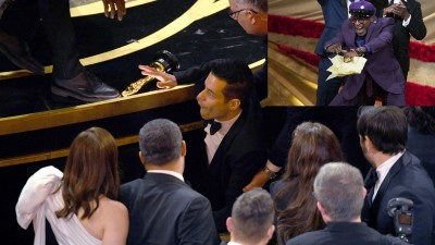 Angry Spike Lee Shoves Remi Malek Off Oscar's Stage!