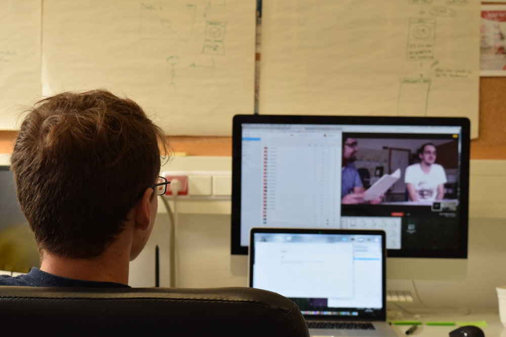 User Testing (colleagues recording session using Lookback and Hangouts for live feed)