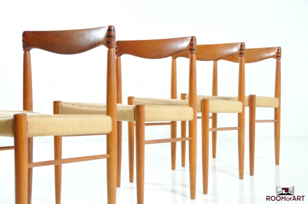 Four teak chairs by Bramin