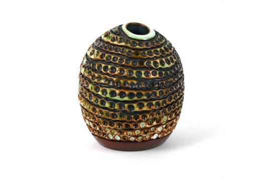 Poole Atlantis pebble vase