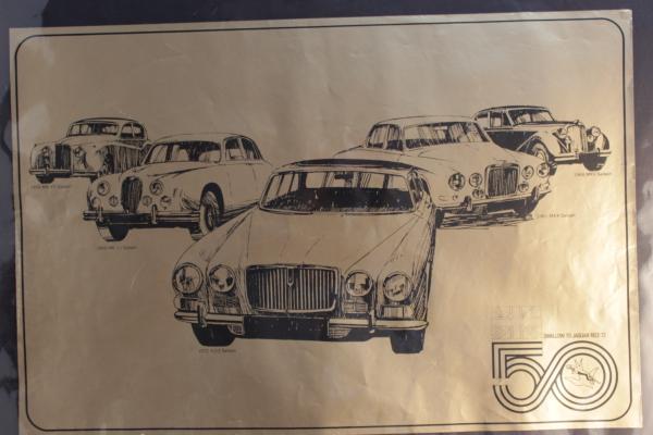 A set of four Jaguar posters