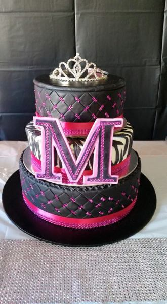 Hot Pink/Black Birthday