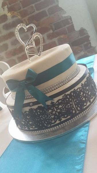 Black/Teal Wedding
