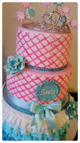 Pink, Teal, Frills, Birthday, Princess