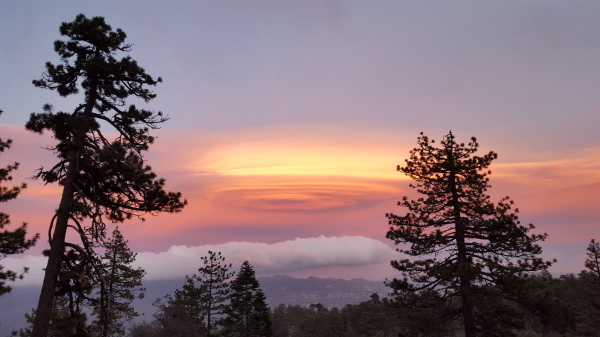 Sunset on Thomas Mtn, San Bernardino National Forest