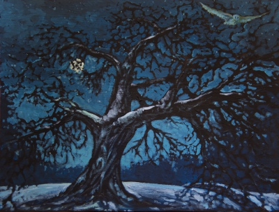 "Winter Tree (22"" x 30"")"