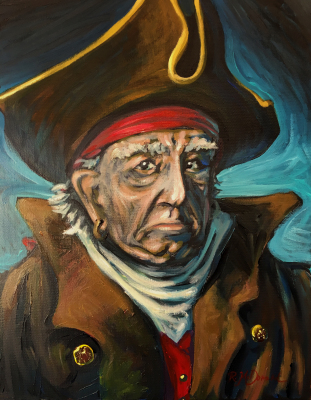 "Whitworth Pirate (16"" x 20"")"