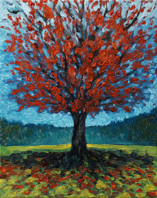 "Autumn Tree II (8"" x 10"")"
